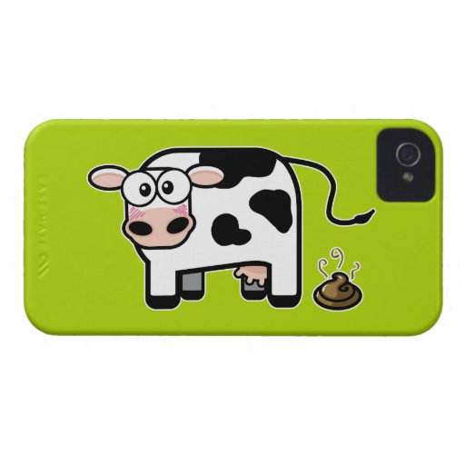 Embarrassed Pooping Cow iPhone 4 Case