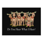 Embarrassed Reindeer Passes Gas Christmas 5x7 Paper Invitation Card
