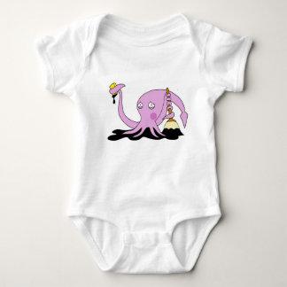 Embarrassed Squid Baby Bodysuit