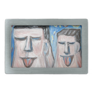 Embarrassing Father and Son ( expressionism) Belt Buckles