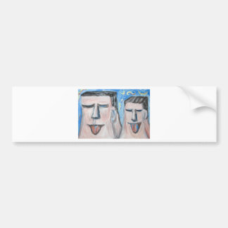 Embarrassing Father and Son ( expressionism) Bumper Sticker