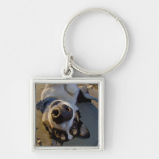 Embarrassing Moment Silver-Colored Square Keychain