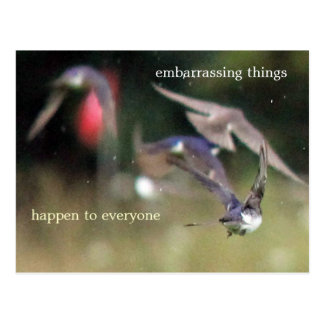 Embarrassing things happen to everyone postcard