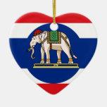 Embassador Thailand, Thailand flag Christmas Ornament