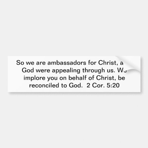 Embassadors para Cristo Pegatina Para Auto
