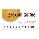 Embassy Coffee Drink Loyalty / Punch Card Business Card