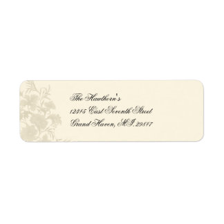 Embassy Creme Floral Avery Label