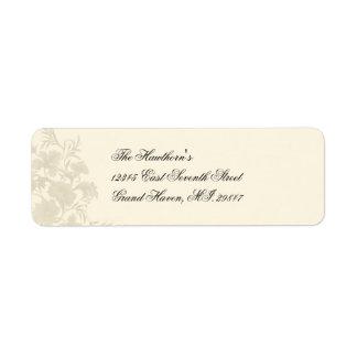 Embassy Creme Floral Avery Label Return Address Label
