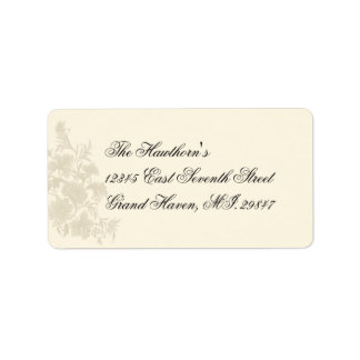 Embassy Creme Floral RSVP Address Avery Label