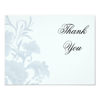 Embassy Floral Blue Flat Card Thank You