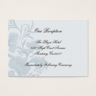 Embassy Floral Blue Reception Insert Cards