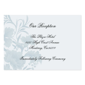 Embassy Floral Blue Reception Insert Cards Large Business Cards (Pack Of 100)