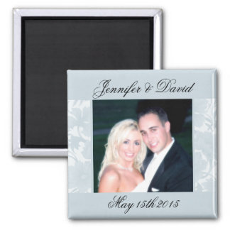 Embassy Floral Blue Save The Date Photo Magnets