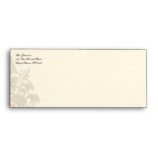 Embassy Floral Creme #10 Envelope