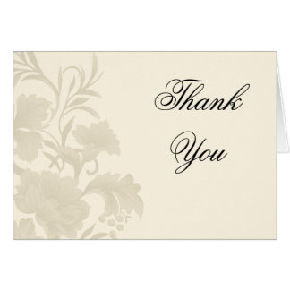 Embassy Floral Creme Thank You Notecards Card