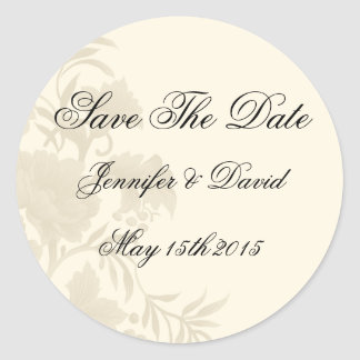 Embassy Floral Save The Date Sticker