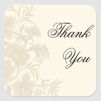 Embassy Floral Thank You Square Sticker