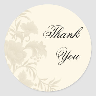 Embassy Floral Thank You Sticker