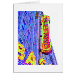 Embassy Theatre sign, Fort Wayne, Indiana Card
