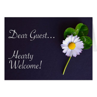 Embassy Welcome Guest Flower Card