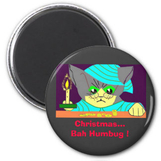 ¡Embaucamiento de Bah del navidad…! Imán Redondo 5 Cm
