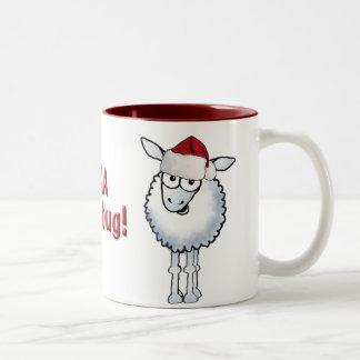 ¡Embaucamiento del BAA del navidad de las ovejas! Taza Dos Tonos