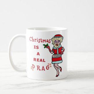 Embaucamiento divertido Santa de Bah del navidad Taza Clásica