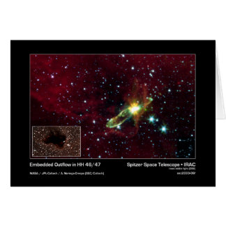 Embedded Outflow in HH 46/47 – Spitzer Space Teles Card