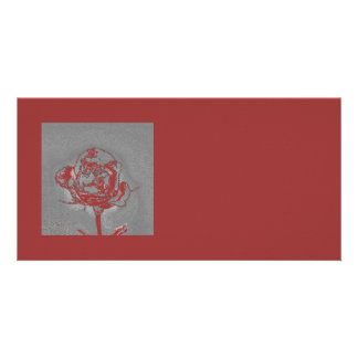Embedded Rose Personal Cards