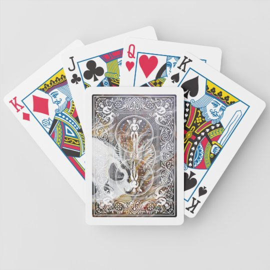 Embedded skull bicycle playing cards