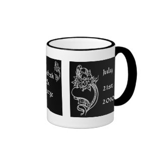 Embelished Heart Ringer Coffee Mug