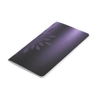 Embelisment floral de la mirada metálica negra cuadernos grapados