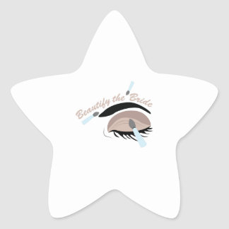 Embellezca a la novia pegatina en forma de estrella