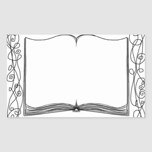 Embellished Book Sticker Bookplate