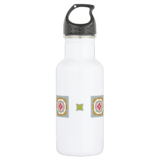 Embellished Checkerboard Pattern Water Bottle
