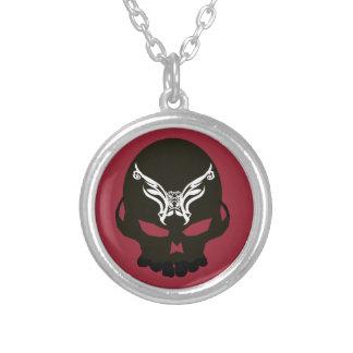 embellished dark skull personalized necklace