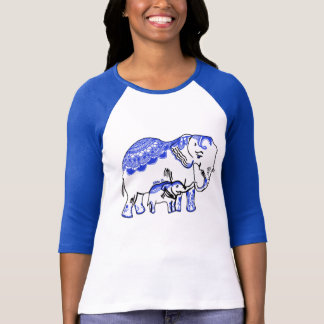 Embellished Elephants Women's Bella Raglan T-Shirt