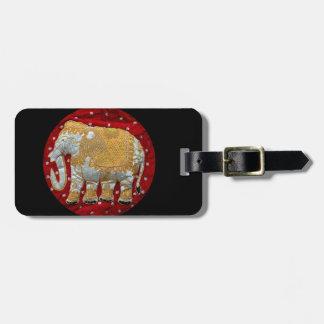 Embellished Indian Elephant Travel Bag Tag