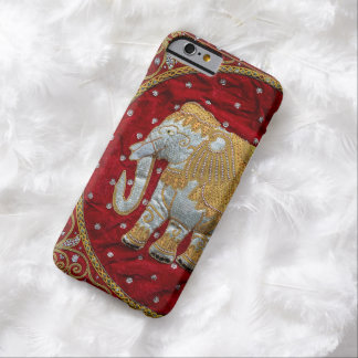 Embellished Indian Elephant Red and Gold Barely There iPhone 6 Case