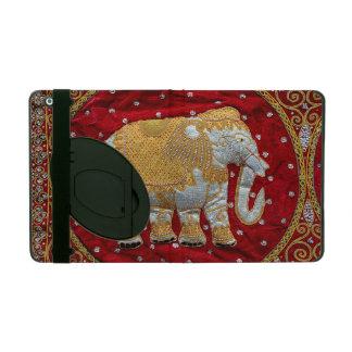 Embellished Indian Elephant Red and Gold iPad Folio Cases