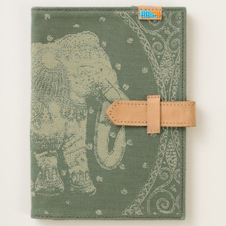 Embellished Indian Elephant Red and Gold Journal