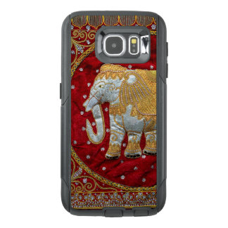Embellished Indian Elephant Red and Gold Otterbox Samsung Galaxy S6 Case