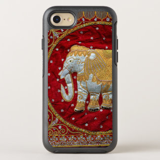 Embellished Indian Elephant Red and Gold OtterBox Symmetry iPhone 8/7 Case