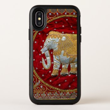 Embellished Indian Elephant Red and Gold OtterBox Symmetry iPhone X Case