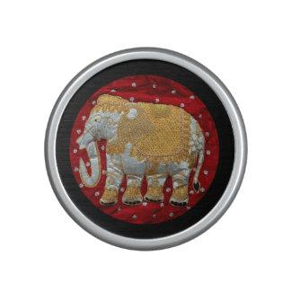 Embellished Indian Elephant Red and Gold Speaker