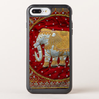 Embellished Indian Elephant Red and Gold Speck iPhone Case