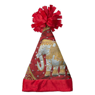 Embellished Indian Elephant Santa Hat