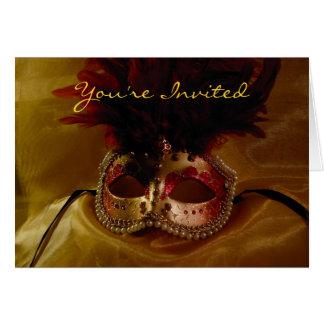 Embellished Mask, You're Invited Card
