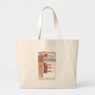 Embellished Merry Christmas and Happy New Year Tote Bags