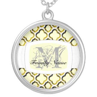 Embellished Moroccan Trellis (Gold) (Monogram) Necklaces